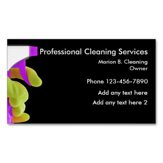 Professional Cleaning Service Magnetic Design Magnetic Business Cards
