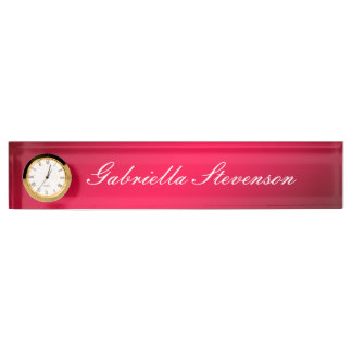 Professional Customize Text Red Handwriting Name Plate