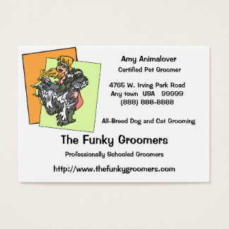 Professional Dog And Cat Grooming Cards