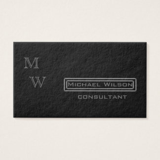 Professional elegant  black monogram business card