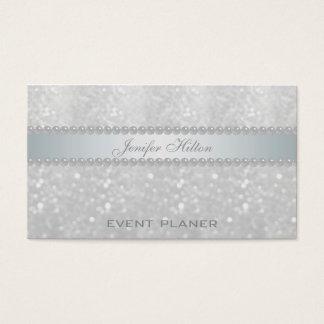 Professional elegant bokeh pearls business card
