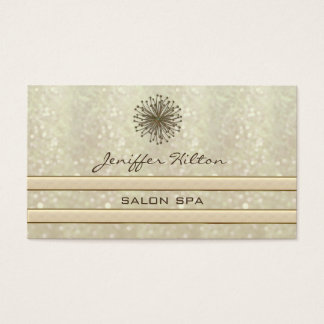 Professional elegant chic glittery dandelion business card