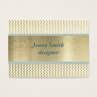 Professional elegant glamourous chevron gold business card