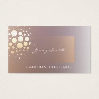 Professional elegant golden/bronze confetti business card
