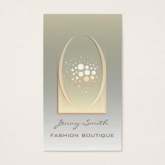 Professional elegant luxury golden/bronze confetti business card