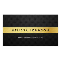 Professional Elegant Modern Black and Gold Business Card Template