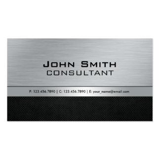 Professional Elegant Modern Black Silver Metal Business Card Template