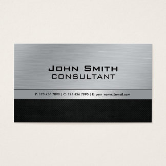 Professional Elegant Modern Black Silver Metal Business Card