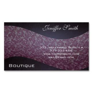 Professional elegant modern chic damask magnetic business card