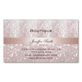 Professional elegant modern chic glittery magnetic business cards