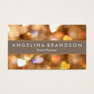 Professional Elegant Modern Glitter Event Planner Business Card