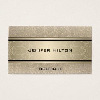 Professional elegant modern luxury glittery business card