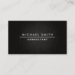 Business cards business card printing zazzle nz professional elegant modern plain simple black business card reheart Images