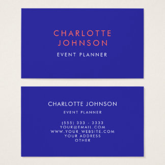Professional Event Planner Modern Business Card