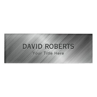 Professional Faux Metallic Modern Name Tag