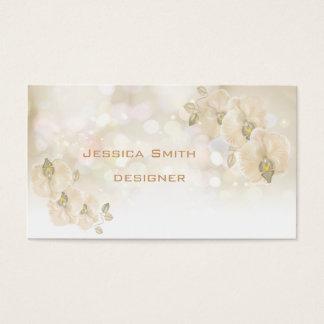 Professional glamorous elegant bokeh orchid business card