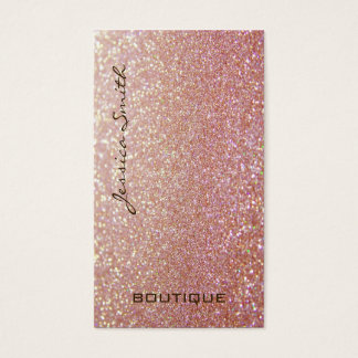 Professional glamourous elegant glittery business card