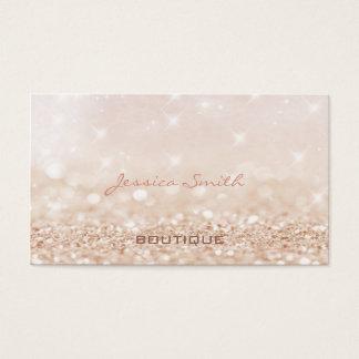 Professional glamourous modern elegant bokeh business card
