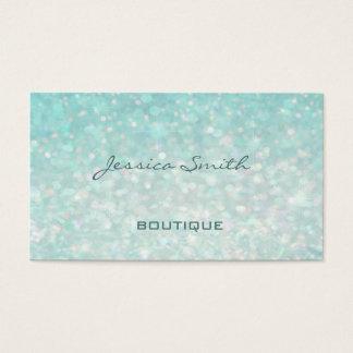 Professional glamourous modern elegant plain bokeh business card