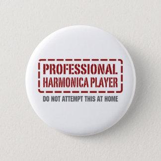 Professional Harmonica Player 6 Cm Round Badge