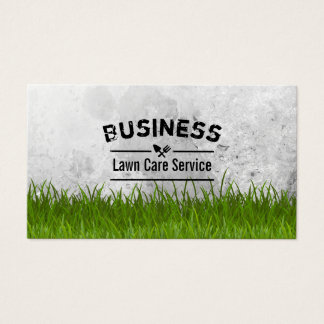 Custom lawn care business cards for Lawn mowing and gardening services