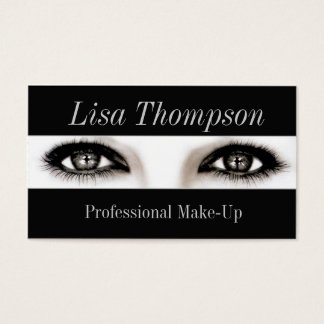 Professional Make-Up Artist / Makeup Model Eyes Business Card