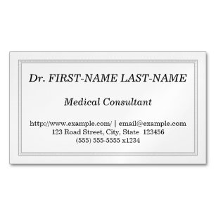 Medic medical professional professionals business cards zazzle nz professional medical consultant business card reheart Image collections