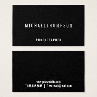Professional Minimalist Black Business Card
