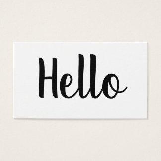 Professional minimalist bold hello business cards