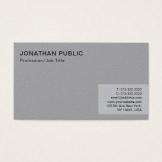 Professional Minimalist Modern Elegant Grey Plain Business Card