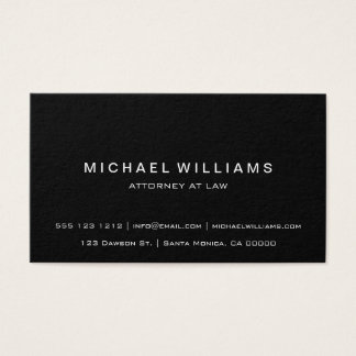 Professional Minimalist Modern Simple Black Business Card