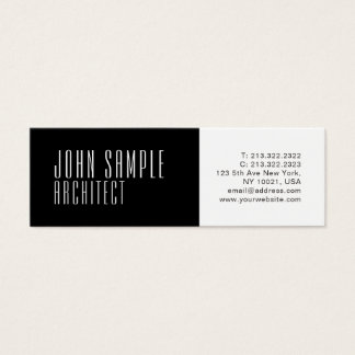 Professional Modern Architect Minimalist Luxury Mini Business Card