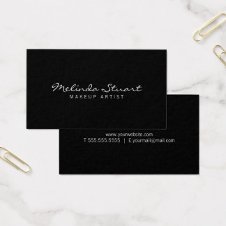 Professional Modern Black Business Card