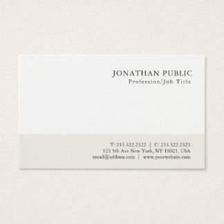 Professional Modern Minimalist Classy Design Business Card