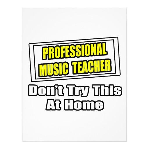Professional Music Teacher...Joke Flyer Design