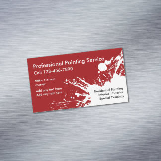 Professional Painter Business Card Magnets Magnetic Business Cards