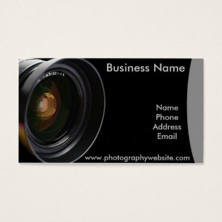Professional Photography Custom Business Card