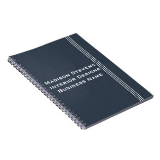 Professional Stripes in Blue Spiral Notebook