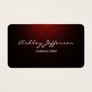 Professional Stylish Script Trendy Brown Red Business Card