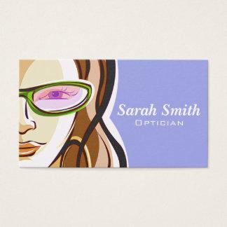 Professional Woman Optician Business Card