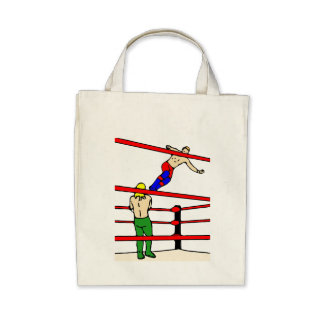 Professional Wrestling Canvas Bags