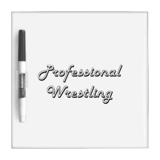 Professional Wrestling Classic Retro Design Dry Erase Whiteboards