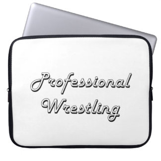 Professional Wrestling Classic Retro Design Laptop Computer Sleeve
