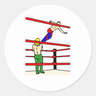 Professional Wrestling Round Sticker