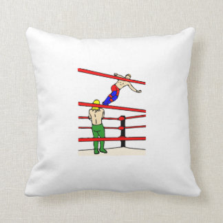 Professional Wrestling Throw Pillows