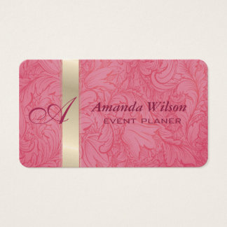 Proffesional elegant floral monogram business card