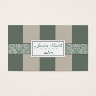 Proffesional elegant gentle stripes vintage business card