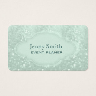 Proffesional elegant glitter business card