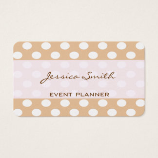 Proffesional elegant modern polka dots plain business card