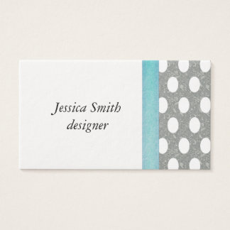 Proffesional elegant polka dots business card
